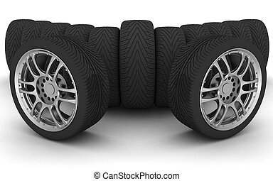 Car Wheels. Concept design - Car Wheels. Concept design. 3D...