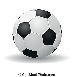 Soccerball - Beautiful soccerball on a white background