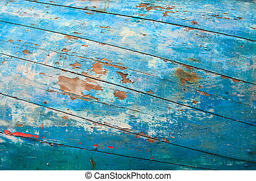 textured abstract background - Old fishing boat textured...