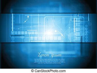 Hi-tech vector background. Gradient mesh
