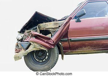 Crash car - Close up shot of Crash car on isolate background