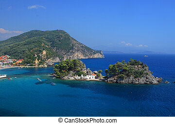 Panagias island in Parga Greece