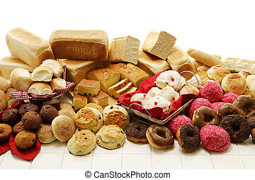 Sweet And Savoury Baked Goods - A collection of savoury and...