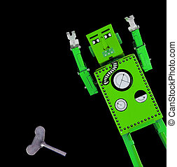 robot - green robot toy
