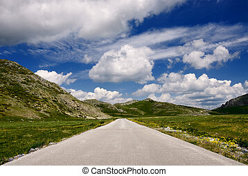 Road on the mountain
