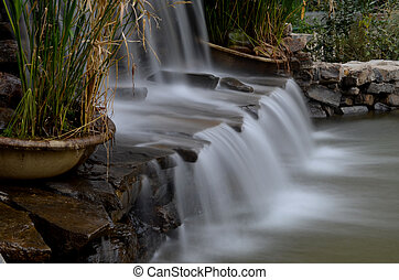 Flowing cascades, long exposure - Flowing cascades captured...