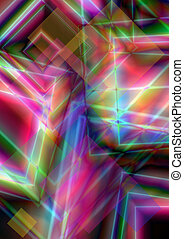 Bright background of intersecting - Abstract bright...
