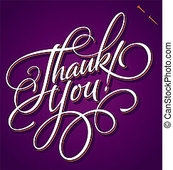 THANK YOU hand lettering (vector) - THANK YOU hand lettering...