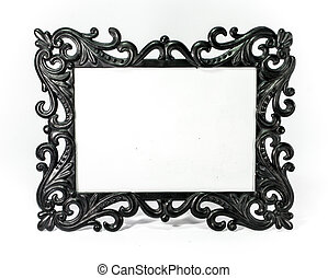 gothic picture frame - black gothic style of picture frame...