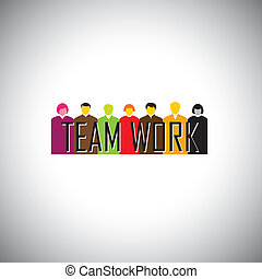 corporate executives or employees together - teamwork...