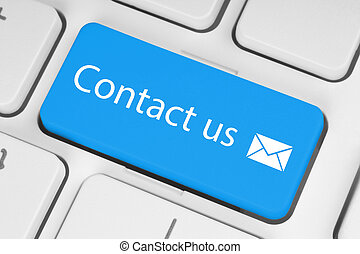 Big blue contact us button