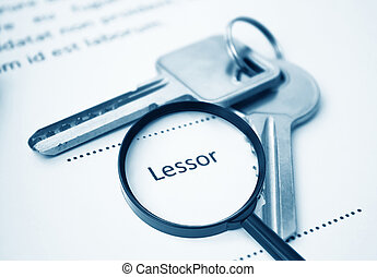 Lease Agreement For Lessor Signing,For Real Estate Concept...