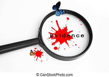 Evidence Concept Background,Use For Crime Concept