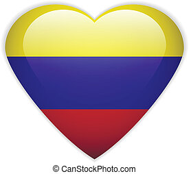 Colombia flag button.