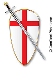 Crusaders Shield and Sword - The traditional sword and...