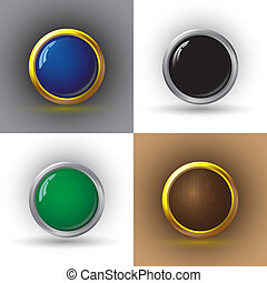 Set of web buttons.