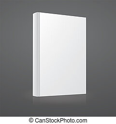 Blank white vector book cover template
