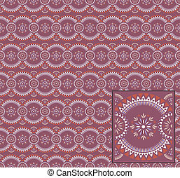 Easter pattern with separated tiles