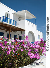 architecture cyclades greek islands - whitewashed...