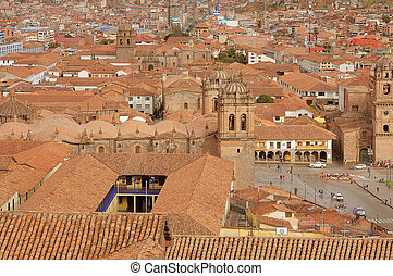 The historical center of Cuzco - The historical center of...
