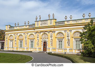 Wilanow Palace, Warsaw, Poland. - View of the Royal Palace...