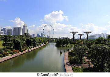 The Supertrees Grove at Gardens by the Bay - SINGAPORE-May...