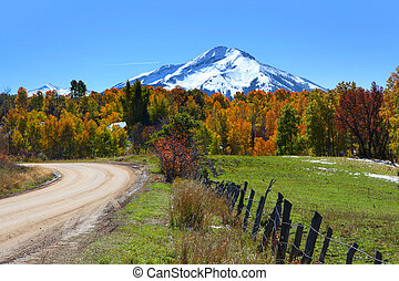 Kebler pass - Scenic back road 12 in Colorado
