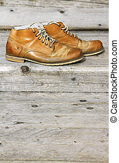 A pair of old shoes