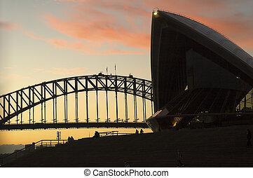 Sydney landmarks - sydney landmarks - opera house and...
