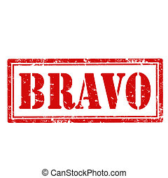 Bravo-stamp - Grunge rubber stamp with text Bravo,vector...