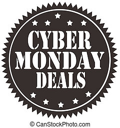Cyber Monday Deals-label - Label with text Cyber Monday...