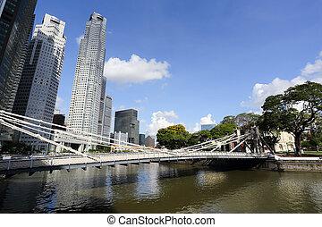 Cingapura, Rio, Skyline, Rifas, lugar