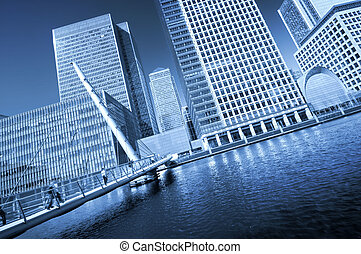 Modern face of London. - Canary Wharf is a large business...