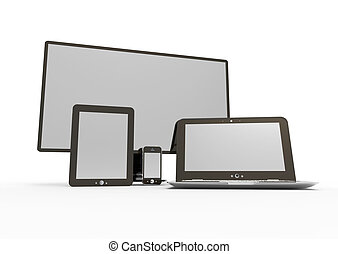 Electronic device - illustration of Smartphones and tablets...