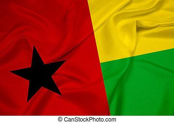 Waving Guinea Bissau Flag