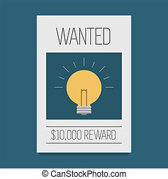 Wanted - Ideas wanted eps 10 vector illustration, ?Buy new...