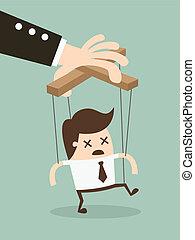 Marionette - Vector illustration businessman marionette on...