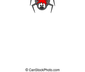 spider - comic spider with red tongue