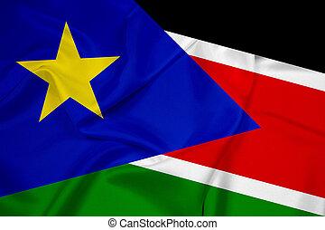 Waving South Sudan Flag