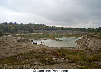 granite quarry - disused flooded granite quarry