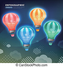 creative infographics template with bulb.