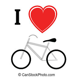 bicycle - illustration with bicycle on a white background...
