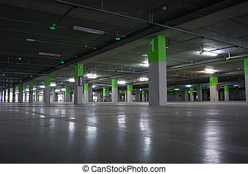 Parking Garage - Airport Parking garage underground,...