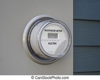 Electric meter - Digital residential power supply meter