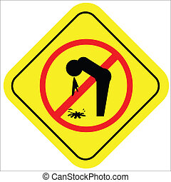 Vector illustration of a warning sign with an icon not...