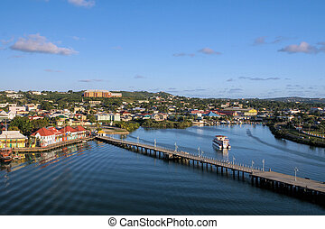 port of Antigua - look at Antigua-harbour by sundown whilst...