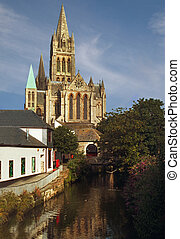 Truro Cathedral was built in the nineteenth century, in the...