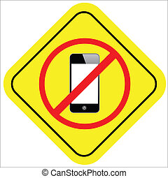 no cell phone sign - warning sign no smart phone vector