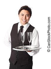Attractive waiter