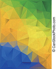 Abstract Geometric background in Brazil flag concept. File...
